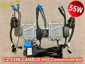 55w Hi low 9007 9004 Hb5 Canbus C21 No Error Bi xenon Hid Kit For Dodge Gm Ae