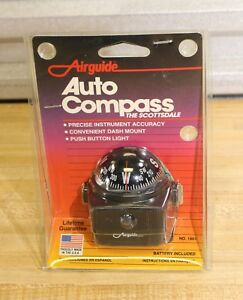 Vtg Airguide Auto Car Navigation Magnetic Dome Compass Dash Mount made In Usa