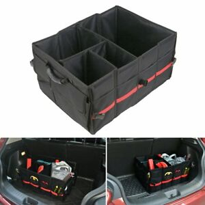 Vehicle Car Truck Trunk Suv Storage Organizer Box Cargo Collapsible Bag Case