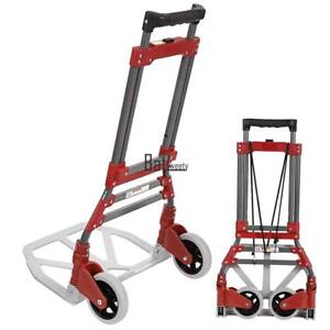 Aluminum Folding Hand Truck Push Cart Dolly Foldable Trolley 165 Lb Black Friday
