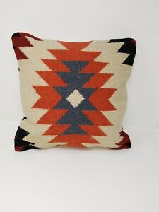 Decorative Kilim Pillow Cover Case From Up Cycled Old Vintage