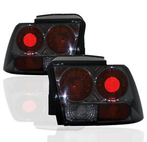 1999 04 Ford Mustang Svt Cobra Altezza Rear End Tail Brake Lights Lamp Smoke Set