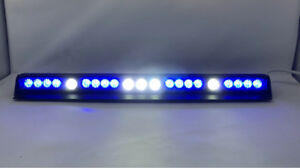 16 Led With 5 Take Down Blue Led Emergency Dash Warning Strobe Flash Light Tir