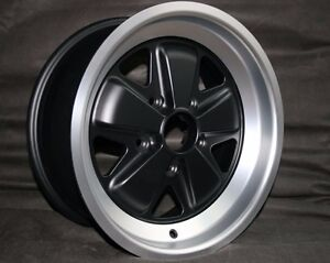Maxilite Fuchs 16x7 Wheel New Tuv Et23 Matte Black Finish For Porsche