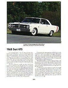 1968 Dodge Dart Gts Article Must See