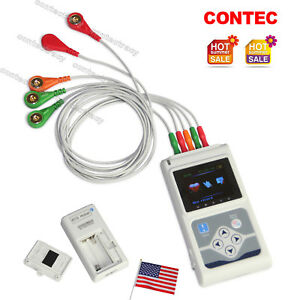 Us Ecg ekg System 3 Channel 12 Leads Holter Monitor 24 Hours pc Software