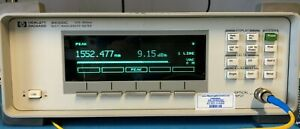 Agilent Hp 86120c Multi wavelength Meter 1270 Nm To 1650 Nm Calibrated