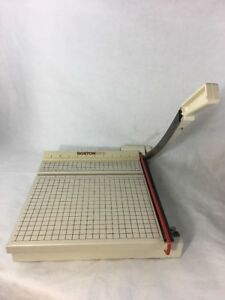Boston 2612 Heavy Duty 12 Paper Cutter Guillotine Trimmer Wooden Base