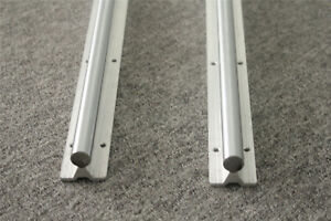 2x Fully Supported Sbr20 1000 Linear Rail Shaft Rod With Support Dia 20mm