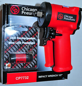 Chicago Pneumatic Cp7732 1 2 Stubby Impact Wrench 4 4 Ln2 8 Lb 450 Ft lbs 7732
