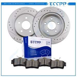 Fits 1994 2004 Ford Mustang Cobra Mach 1 Rear Brake Discs Rotors Ceramic Pads