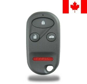 1x New Replacement Keyless Entry Remote Control Key Fob For Honda Accord