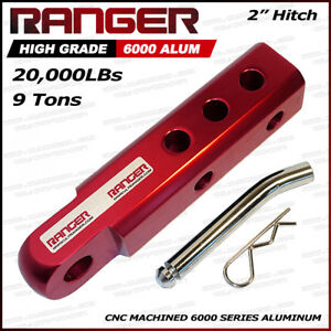 Ranger 2 Aluminum Hitch Receiver 3 4 Shackle Adapter 20 000 Lbs Red