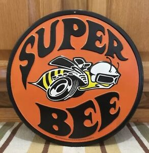 Super Bee Embossed Metal Dodge Man Cave Parts Decor Coupe Charger Challenger Car