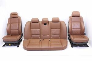 04 05 Bmw 530i E60 Front Rear Comfort Seat Set Leather Memory Heated Brown Oem