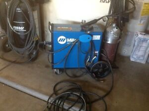 Miller Matic 185 Mig Welding Machine Miller Spool Gun 2 Bottles Lots Of Cord