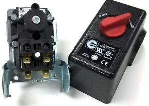 Two Stage Air Compressor Pressure Switch 4 Port 145 Psi On 175 Psi Off Condor