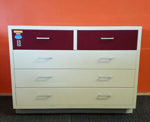 Industrial Laboratory Base Cabinet 5 Drawers Includes Resin Top