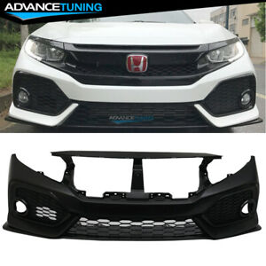 Fits 16 18 Honda Civic Si Oe Style Front Bumper Conversion Bodykit Pp