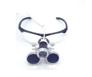 Dental Surgical Binocular Loupes Optical Glass 3 5x420mm Led Headlight Black