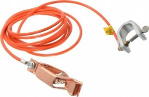 Hubbell Workplace 19 Awg 10 Ft Alligator Clip C clamp Grounding Cable Wi