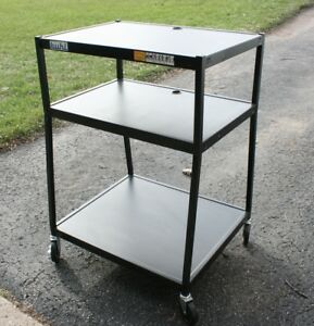 Buhl Steel Av Cart 45 Tall 32 x27 Wide Bottom Base 32 x22 Top 5 Casters