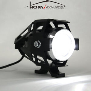U5 Motorcycle Headlight Cree Led 125w Driving Fog Lamp Spot Light Aprilia Honda