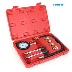 Engine Cylinder Compression Gauge Tester Kit Gas Engine Diagnostic Tester Tool