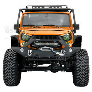 Front Bumper Fog Light Hol 21 22 Light Bar Led Mount For 07 18 Jeep Jk Wrangler