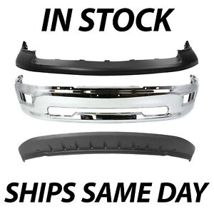 New Top Bumper Valance Face Bar Deflector Set For 2009 2012 Dodge Ram 1500