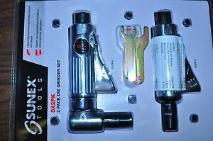 Air Die Grinder Straight And Angle Grinder 2 Pack Set Sunex Sx2pk