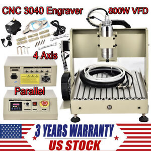 800w Vfd Cnc3040 Router Engraver Kit 4 Axis 3d Desktop Engraving Milling Machine