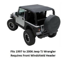 Jeep Extended Bikini Top For 97 06 Jeep Tj Wrangler Cover Front And Rear Seats