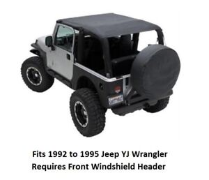 Jeep Extended Bikini Top For 92 95 Jeep Yj Wrangler Cover Front And Rear Seats