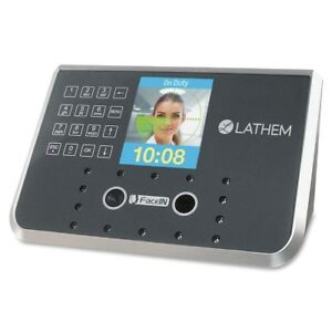 Lathem Biometric Face Recognition Time Clock Face Biometric 50 Employees