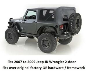 Smittybilt Replacement Soft Top W Tinted Windows For 07 09 Jeep Wrangler 2 Door