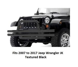 Smittybilt Front Double Tube Bumper With Grille Hoop For 07 17 Jeep Jk Wrangler