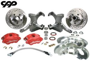 73 87 Chevy C10 Gmc Truck Red D52 Wilwood Disc Brake Conversion Kit Drop Spindle