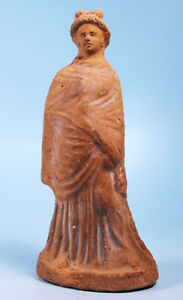 Greek Terracotta Woman Of Fashion Ancient Art Antiquities