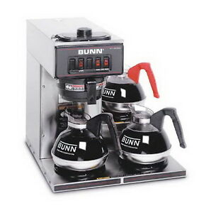 New Bunn Pourover Commercial Coffee Maker Countertop Brewer 3 Decanters Included
