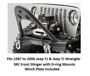 Smittybilt Front Stinger Bumper With Bolt on Winch Plate For 87 06 Jeep Wrangler