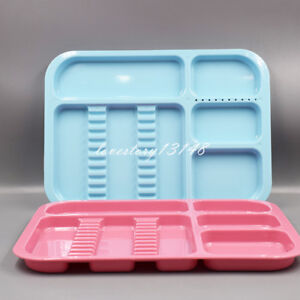 5 Colors Dental 135 Divided Separate Type Tray Plastic Instrument Autoclavable