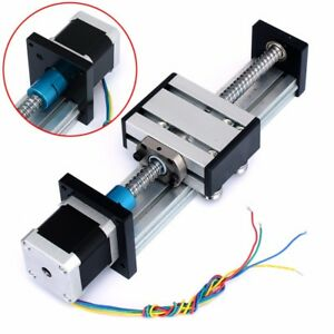 1204 Ball Screw Cnc Linear Slide Stroke 100mm Long Stage Actuator Stepper Motor