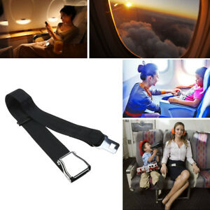Airplane Seat Belt Extension Adjustable Extender Airline Buckle Aircraft Black
