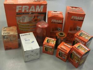 lot Of 11 Miscellaneous Fram Filters