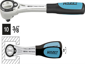 Hazet 1x Ratchet Wrench 3 8 Drive Fine Tooth 72 Teeth New 88161
