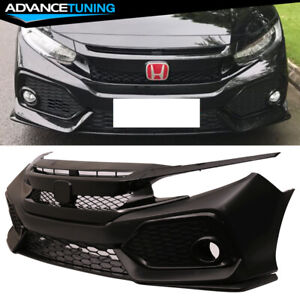 Fits 16 18 Civic Sedan Coupe Oe Front Bumper Conversion Type R Grille Grill