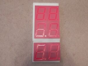4 Large 7 Segment Red Led Display Part No Fys 40011fuhr 32 Lot Of 6 New