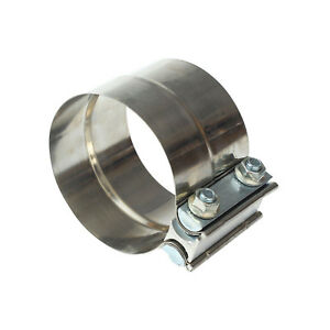 2 25 2 1 4 Stainless Steel Lap Joint Band Exhaust Clamp T 304 Stainless Steel