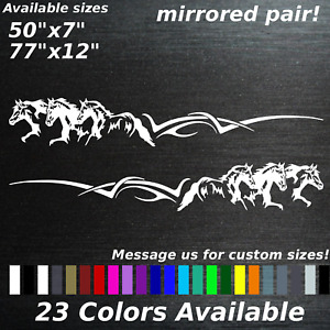Running Horses Truck Side Vehicle Graphics Decals Stickers Stampede Country